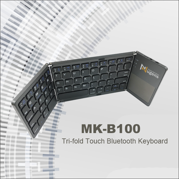 Tri-fold Touch Bluetooth Keyboard